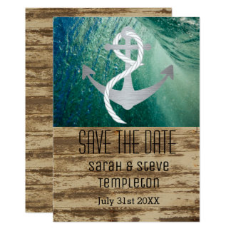 Nautical Anchor Sailing Save The Date Card