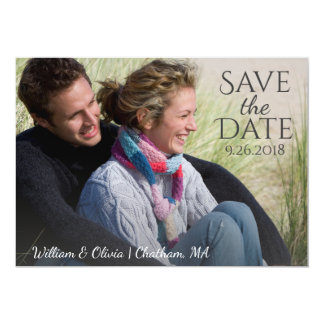 Nautical Anchor Save the Date Photo Wedding 13 Cm X 18 Cm Invitation Card