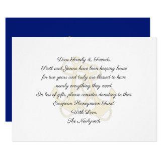 Nautical Anchors Wedding Wishing Well Cards