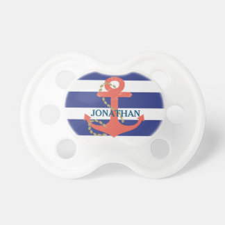 Nautical Baby Boy Personalized Pacifier