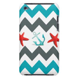 Nautical Beach Theme Chevron Anchors Starfish iPod Touch Covers