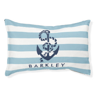 Nautical Blue Stripe Anchor Personalised