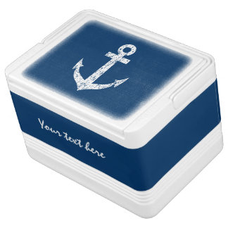 Nautical can cooler box with boat anchor design chilly bin