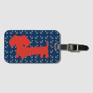 Nautical Dachshund Luggage Bag Tag