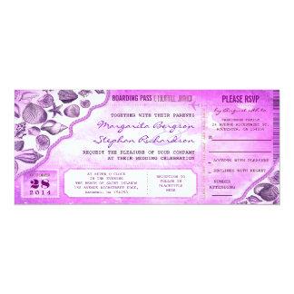 nautical destination wedding tickets invitations