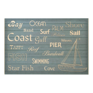 Nautical Inspirations - Sail Boat Wood Print
