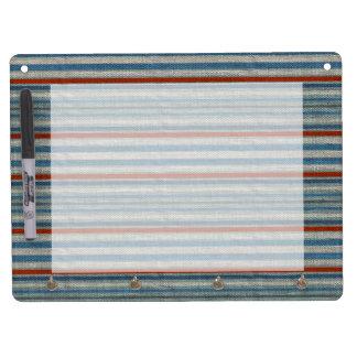 Nautical Linen Stripe Dry-Erase Boards