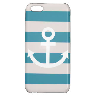 Nautical Marine Stripe Anchor iPhone Case Cover For iPhone 5C