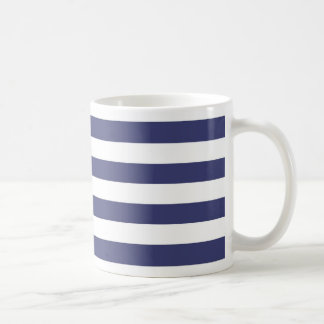 Nautical Navy Blue and White Stripes Mug