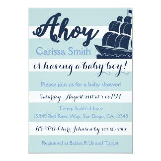 Nautical Sailboat Baby Shower Invitation