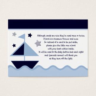 Nautical Sailboats Navy  Favor/Tags Business Card