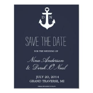 Nautical Save The Date   Wedding Card