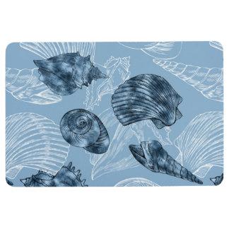 Nautical Seashell Collection Floor Mat