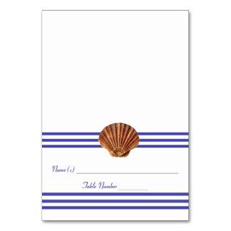 Nautical Seashell - Escort Card Table Cards