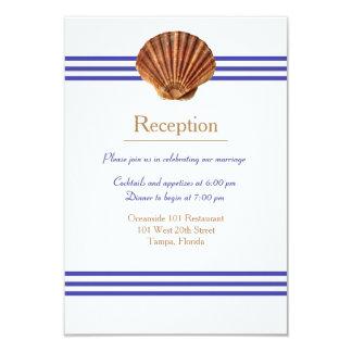 Nautical Seashell - Reception Invitation