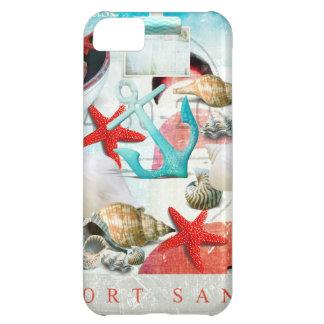 Nautical Seashells Anchor Starfish Beach Theme iPhone 5C Case