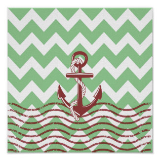 Chevron Pattern With Anchor