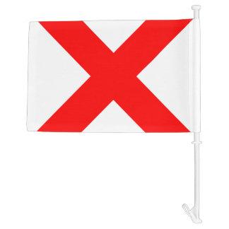 Nautical Sign Code Flag Victor Letter V Car Flag