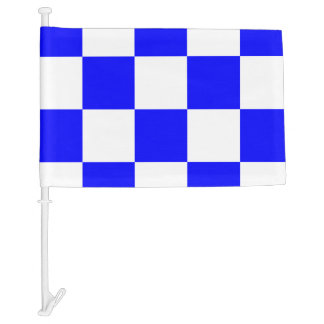 Nautical Signal Flag November Letter N Car Flag