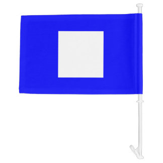 Nautical Signal Flag Papa Letter P Car Flag