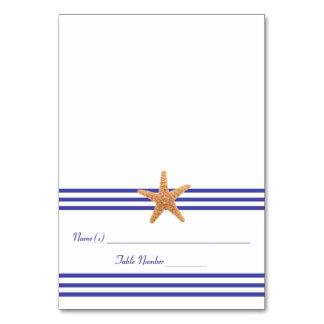 Nautical Starfish - Escort Card Table Cards