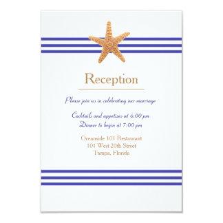 Nautical Starfish - Reception Invitation