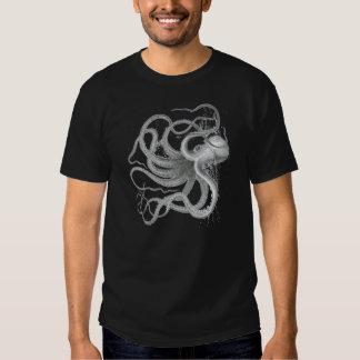 Nautical steampunk octopus Vintage kraken drawing Tee Shirt