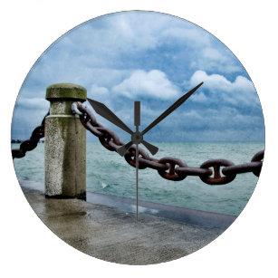 Rustic Beach Decor Wall Clocks Zazzle Co Nz