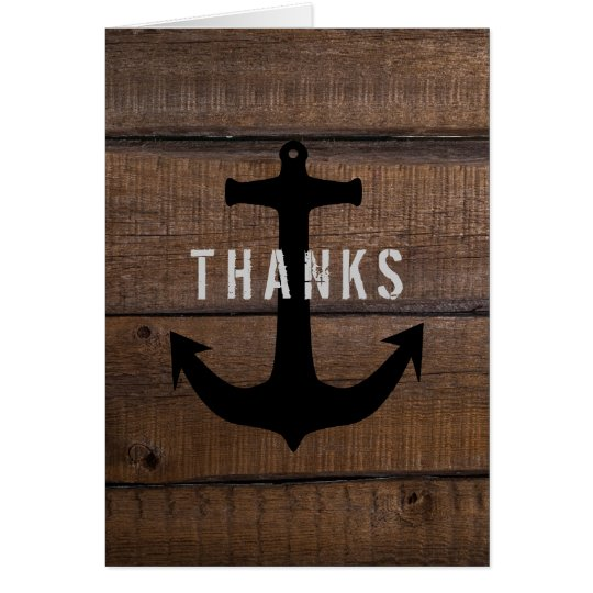 Nautical Thanks From the Groom Message Card