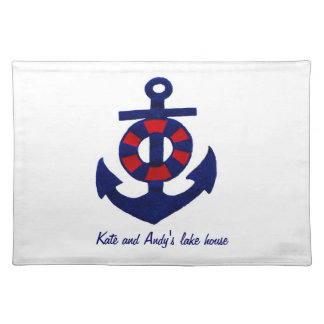 Nautical Theme Anchor and Buoy Place Mats