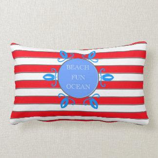 Nautical Theme Beach Ocean Fun Pillow
