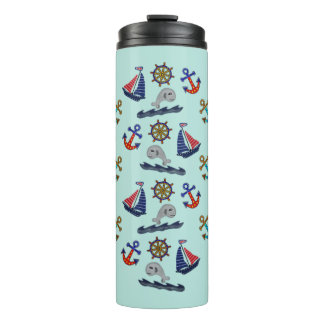 Nautical Theme Thermal Tumbler