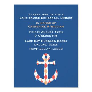 Nautical Themed Anchor Rehearsal Dinner Invitation