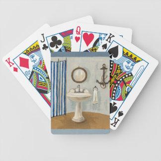 Nautical Themed Bathroom Bicycle Card Deck