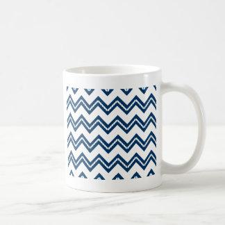 Nautical Themed Chevron Print Basic White Mug