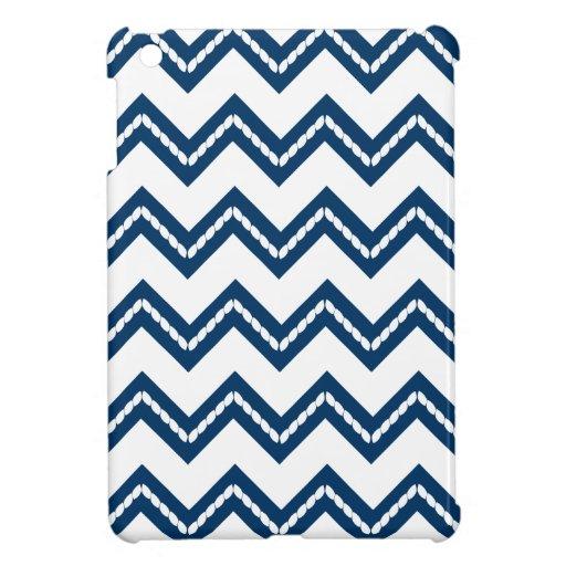Nautical Themed Chevron Print iPad Mini Case