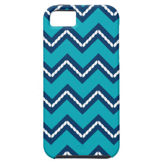 Nautical Themed Chevron Print Teal iPhone 5 Cover