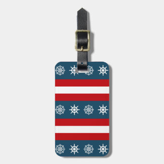 Nautical themed design luggage tag