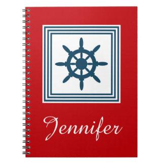 Nautical themed design spiral notebooks