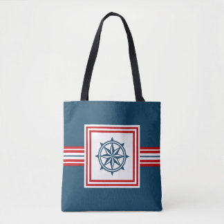 Nautical themed design tote bag