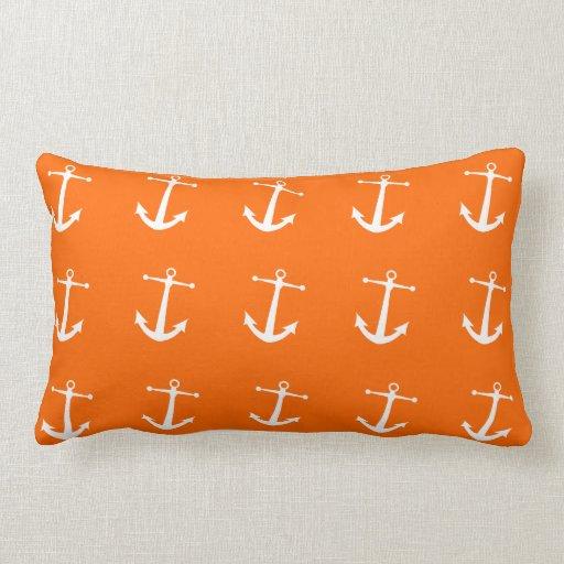 Nautical Themed Lumbar Pillows with Anchors