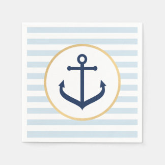Nautical Themed Napkins Paper Serviettes