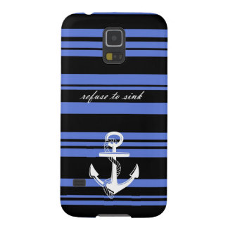 Nautical Themed Samsung Galaxy S5 Case with Quote