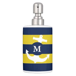Nautical Toothbrush Holder & Soap Dispenser Set