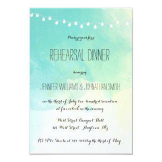 Nautical watercolor rehearsal dinner invitations