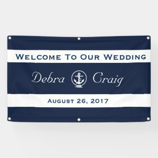 Nautical Wedding Banner 3' x 5'