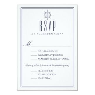 Nautical Wedding RSVP 2 Card