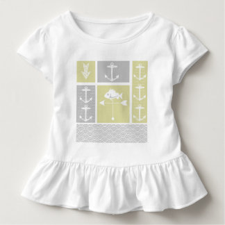 Nautical Yellow and Gray Anchor Fish Weather Vane Toddler T-Shirt