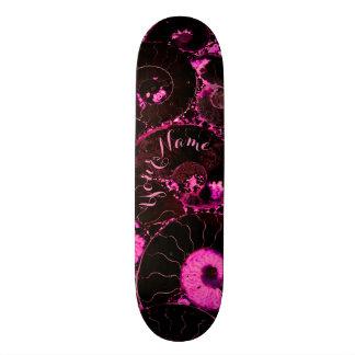 Nautilus pink shell design skate boards