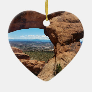Navajo Arch Arches National Park Utah Ceramic Heart Decoration